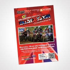A5 poster design for the 2011 Goldspeed British Quadcross Championship