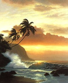 """""""Trail of Gold"""", by Roy Tabora #art #hawaii"""