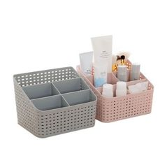 Urijk Makeup Organizer Storage Box Desk Office Organizer Cosmetics Skin Care Plastic Storage Drawer Jewelry Box Drop Shipping - All About MakeUp Plastic Makeup Storage, Plastic Storage Drawers, Makeup Storage Box, Cosmetic Storage, Diy Storage, Closet Storage, Cute Storage Boxes, Makeup Drawer, Storage Bins
