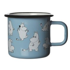 Moomin Enamel Retro Mug – Moomin/Light Blue | The Moomin Shop