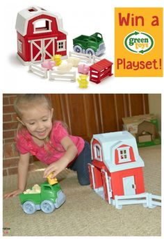 Giveaway! Enter to win a Green Toys Farm Playset