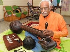 A One-piece Rosewood Veena Fashioned With Sandpaper