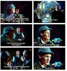 The Doctor pretending to be Sherlock Holmes