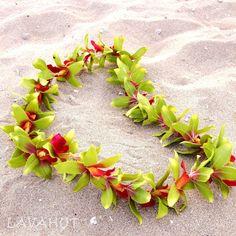 "Hawaiian Flower Lei - Silk orchid blossoms - Length: 34"""