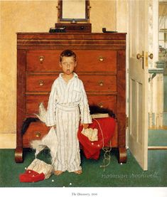 """The discovery"" by Norman Rockwell, 1956 ・ Style: Regionalism ・ Genre: genre painting"