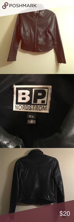 Vintage Leather Jacket Vintage leather jacket, size XS. You'll get that great worn in look! Zippers on sleeves and pockets in front. Originally from BP by Nordstrom in the 90s. I offer 15% off on bundles and have a BOGO deal. Make me an offer! bp Jackets & Coats