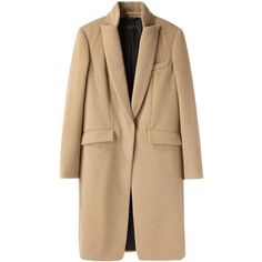 Rag Bone Roseburg Trench Coat (€670) ❤ liked on Polyvore featuring outerwear, coats, jackets, men, rag bone coat, camel wool trench coat, beige coat, camel wool coat and trench coat