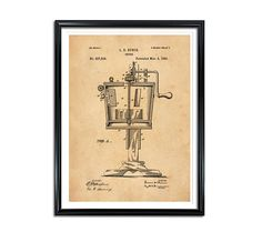 Churn Patent Patent Prints Vintage wall art Patent wall