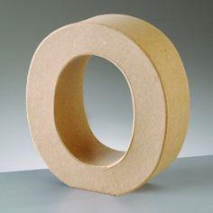 Lettre O en carton hauteur 10 cm | Femme2Deco