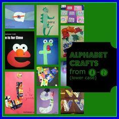 alphabet crafts - lower case a-z Abc Crafts, Letter Crafts, Alphabet Crafts, Alphabet Activities, Crafts For Kids, Preschool Fingerplays, Preschool Literacy, Preschool Ideas, Preschool Crafts