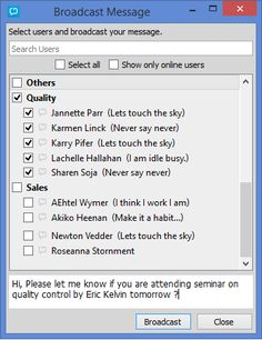 CD Messenger is a feature rich business/Enterprise Chat Application. Instant chat messenger offering mass/group text messaging, conferencing, secure office instant messaging in real time.