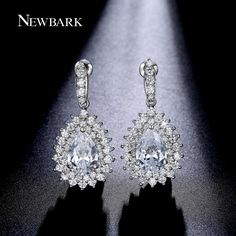 Find More Drop Earrings Information about NEWBARK Water Drop Shape Earrings 18K…