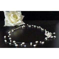 Perlenkette Keshi Perlen design Brautschmuck