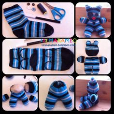 Diy Sock Toys, Sock Crafts, Baby Crafts, Fabric Crafts, Diy Crafts Videos, Diy Crafts To Sell, Diy Crafts For Kids, Sock Monkey Pattern, Baby Boy Knitting Patterns