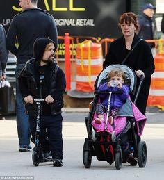 Like father, like daughter! It appeared little Zelig had her own scooter as well, which was tucked into the stroller she was being pushed in. Peter Dinklage from Game of Thrones. Lilly And Co, Watch Game Of Thrones, Game Of Throne Actors, Kick Scooter, Jaden Smith, Metabolic Diet, Family Outing, New York Street, Celebs
