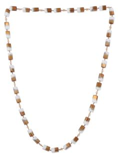 Buy Zri Gilded white beaded necklace Online, , LimeRoad
