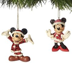 Disney Traditions Santa Mickey & Minnie Mouse Hanging Tree Ornament 23329