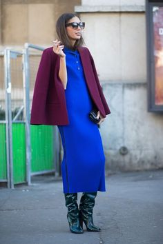 Bored of navy blue but not into pink? Give your everyday wardrobe a pop of colour and make cobalt blue your shade of choice. Elie Saab, Roland Mouret and Givenchy have all paraded the shade this year, and the high street is following suit with chunky knitwear, slinky dresses and statement tops all getting the bright blue treatment.