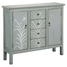 Hand-painted chest with floral motif.    Product: Chest    Construction Material: Wood    Color: ...