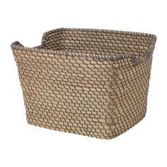 IKEA ÅSUNDEN Basket Dark grey 30 x 36 x 25 cm Each basket is woven by hand and is therefore unique. Airing Cupboard, Cupboard Storage, Ikea Bathroom Accessories, Accessories Shop, Ikea Basket, Soap Dispensers, Blue And Copper, Small Storage, Dark Grey