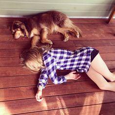 Amanda Seyfried with her dog Finn