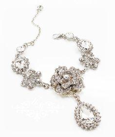 "Handmade Rhinestone Bracelet / Wedding Bracelet / The Bracelet is 7"" length + little extender (adjustable) 100% Brand New / https://www.etsy.com/listing/167645265/ooak-wedding-jewelry-rhinestone-single"