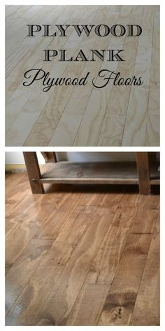 Beautiful floor made from plywood.  Note the wide planks, heavy grain, and great use of a stain that highlights the natural wood character. Plywood Plank Flooring, Diy Wood Floors, Diy Flooring, Hardwood Floors, Laminate Flooring, Painted Floors, Basement Flooring, Modern Flooring, Cheap Flooring Ideas