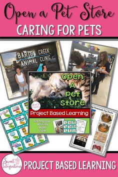 Your class is opening a pet store. Your students will have an opportunity to open their own pet store and create their own item for the pet store, make homemade doggie treats, interview experts in pet care and rescue, and more... This PBL unit is filled with ideas for elementary and early middle school students; $
