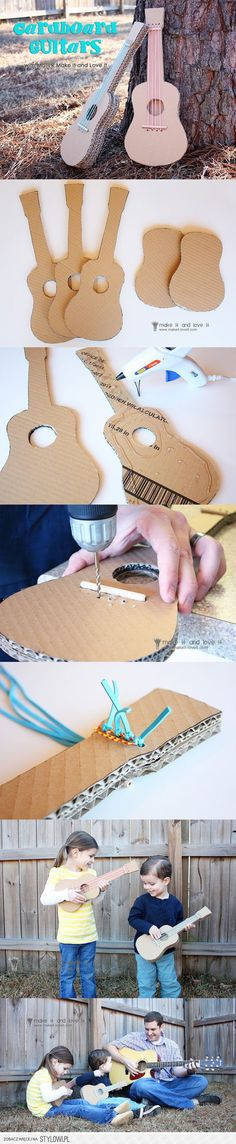 DIY Cardboard Guitar DIY Projects | UsefulDIY.com na Stylowi.pl