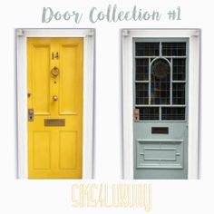 THE SIMS 4 CC, DOOR COLLECTION 1