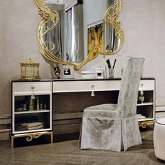 Large Luxury Reproduction Art Deco Dressing Table