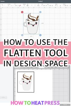 Cricut Flatten Guide: What Does Flatten Do In Cricut Design Space? How to use the flatten tool in design space Cricut Heat Transfer Vinyl, Iron On Cricut, Cricut Iron On Vinyl, How To Use Cricut, Cricut Help, Cricut Air, Cricut Explore Projects, Cricut Explore Air, Vinyl Projects
