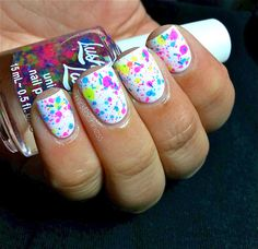 NEW Neon--GLOWSTICKS:  Custom-Blended NEON Glitter Nail Polish / Lacquer/ indie polish