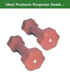 Ideal Products Neoprene Dumbbells Pair - 4 lb. These are Ideal Products' Neoprene Dumbbells. They are simple, effective neoprene coated iron hand weights that provide a soft grip and reduce slip. Perfect for jogging, aerobics, power walking, general exercise and physical therapy, these dumbbells are available at each pound from 1 to 10 lb, and afterward, up to 30 lbs in increasing increments.