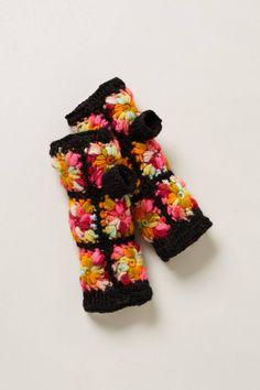 Hand-Crocheted Fingerless Gloves :: #anthrofave
