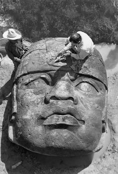 National Geographic Found giant Olmec head discovered in 1946 gets a patch, San Lorenzo, Mexico. Photograph by Richard Hewitt Stewart, National Geographic Ancient Mysteries, Ancient Artifacts, Ancient Aliens, Ancient History, National Geographic, Statue Art, Art Antique, Mesoamerican, Before Us