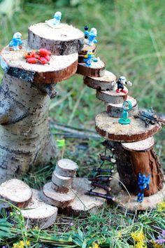 Мир моих грез . . . Lizon.org: Постройка из деревянных спилов