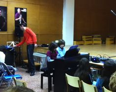 Pau i Andreu a l'audició de piano (25-3-2013)