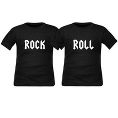 2d08c9a0b2e36 2 tee shirts enfant jumeaux   ROCK   ROLL. SiMEDIO