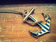 "Anchor Necklace. I need to find this. My motto for my life, ""I refuse to sink""."