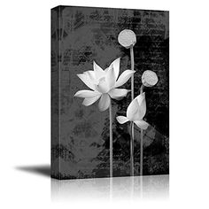 Wall26  Portrait of Flowers with a Vintage Background  Canvas Art Home Decor  24x36 inches * Visit the image link more details. Note:It is affiliate link to Amazon. #PosterPrint