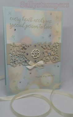 So Detailed Falling For You. Delicate, Soft, I love this Designer Series Paper. Independent Stampin' Up!® Demonstrator UK.