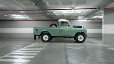 Empty Basement And A Pristine Land Rover Series III | ColumnM