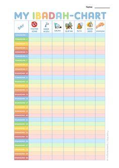 free printable ibadah-chart for ramadan kids