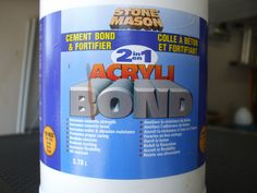Acrylic bonding agent- must have!!  Any bonding agent will do, I have great results with this one. I got this at Home depot. I mix this 4 parts water/1 part bonding agent. Mix this in a separate container and use as needed. You cannot make a great leaf without it, don't skip this part.