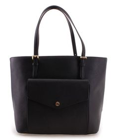 Look what I found on #zulily! Black Jet Set Item Leather Tote #zulilyfinds