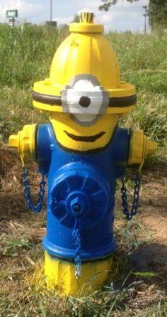 """Route 66 Sullivan, Missouri Fire Hydrant """"A Despicable Me Minion"""""""