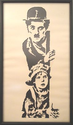 Chaplin papercut by kadifecraft on deviantART