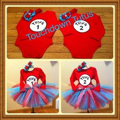 Thing 1 Thing 2 tutu oufits  personalization by TouchdownTutus, $103.00