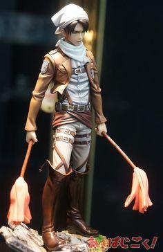 Attack on Titan - Levi the Clean Freak figure -- Hhhhhhhhhahahahahahaha, Blair, I'm getting you this for Christmas.